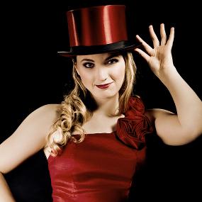 Professional female Magician and aerial acrobat